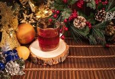Dekor för nytt år och jul arkivfoto