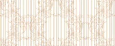 Dekor för prydnad för damast guld- modellvektorillustration handgjord Barocka glansiga bakgrundstexturer stock illustrationer