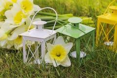 Dekor för trädgårds- parti för sommar. Fotografering för Bildbyråer
