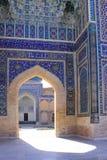 Dekor för Uzbekistan Samarkand Gur-e Amirmausoleum Arkivfoton