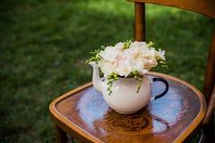 Dekor för sommarbröllopparti Arkivfoto
