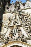 Dekor im Freien von Basilique Notre-Dame de l ` Epine Lizenzfreies Stockfoto