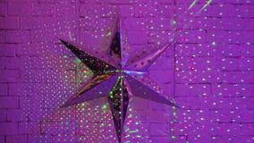 Dekor und Laserlicht am Nachtklub stock video footage