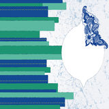 dekoraci abstrakcjonistyczna etykietka Obrazy Stock