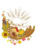 dekoraci dziękczynienie royalty ilustracja