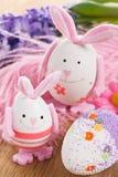 dekoraci Easter jajka królik Fotografia Royalty Free