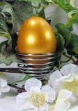 dekoraci Easter jajka złota wiosna Zdjęcie Stock