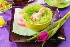 dekoraci Easter stół Fotografia Royalty Free