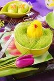 dekoraci Easter stół Zdjęcia Royalty Free