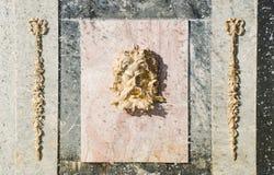 dekoraci fontanny peterhof rzymski Obrazy Stock