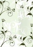 dekoraci kwiatów zieleń royalty ilustracja