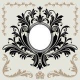 dekoraci kwiecista rama Zdjęcie Royalty Free