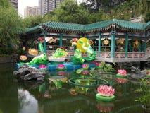 dekoraci ogródu grzechu tai świątyni wong Obraz Royalty Free