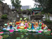 dekoraci ogródu grzechu tai świątyni wong fotografia royalty free