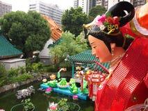 dekoraci ogródu grzechu tai świątyni wong Obrazy Royalty Free