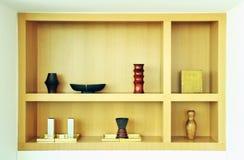 dekoraci półka Zdjęcia Stock