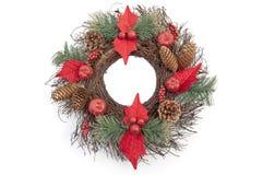 dekoraci pinecone zaokrąglał Zdjęcia Stock