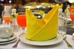 dekoraci położenia stołu ślub Obraz Royalty Free