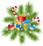 dekoraci prezentów xmas ilustracji