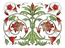 dekoraci projekta elementu kwiat Zdjęcia Royalty Free