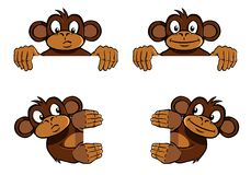 dekoraci ramy małpa Zdjęcia Stock