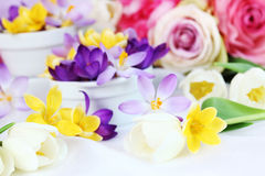dekoraci wiosna stół Zdjęcia Royalty Free