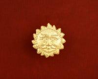 dekoraci złota słońce Obraz Royalty Free