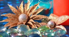 dekoraci złoty kwiecisty Obraz Royalty Free