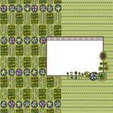 dekoraci zieleni etykietka Fotografia Royalty Free