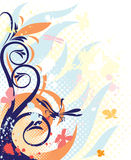 dekoracj błękitny florals ilustracja wektor