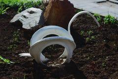 Dekoracj flowerbeds opony Fotografia Royalty Free