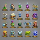 Dekoracj ikony dla gier ilustracja wektor