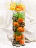 dekoracj mandarines Zdjęcie Stock