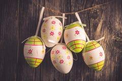 Dekoracj wielkanocni jajka Zdjęcie Stock
