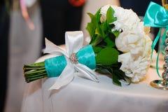 Dekoracja łęku ślubny bukiet Zdjęcie Royalty Free