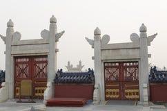 Dekoracja świątynia Niebiańscy Tiantan Daoist świątynni eligious budynki Pekin Chiny Fotografia Stock