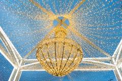 Dekoracja światła na Yakimanskaya bulwarze w M zdjęcia royalty free