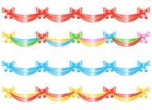 dekoracja banner bow ilustracja wektor