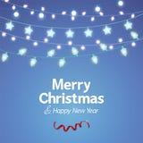 Dekoracja bożonarodzeniowe światła tło Fotografia Stock