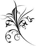 dekoracja czarny kwiaty royalty ilustracja