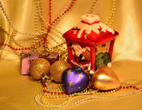 Dekoracja dla bożych narodzeń i nowego roku. Obrazy Royalty Free
