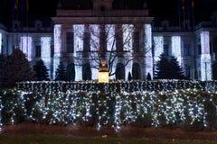Dekoracja dla christmass roznovanu pałac Zdjęcia Stock
