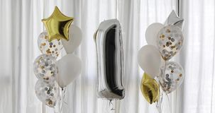 Dekoracja dla 1 roku urodziny, rocznica zdjęcie wideo