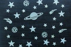 Dekoracja, gwiazdy planeta Zdjęcie Royalty Free