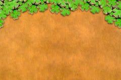 Dekoracja karta up kreskowi symbole wiosen wakacyjne tradycje Irlandia dnia kopii świątobliwa patric przestrzeń na drewnianej pod ilustracji