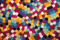 Dekoracja kolorowy dywan, wełna dywan Fotografia Stock