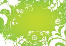 dekoracja kwiaty zielenieją biel ilustracja wektor