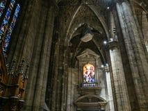 Dekoracja Mediolańska katedra obrazy royalty free