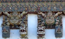 Dekoracja monaster Gangtey Obrazy Stock
