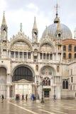 Dekoracja na fasadzie bazylika Świątobliwy Mark Zdjęcie Stock